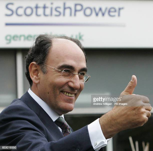 Chief Executive and Chairman of Iberdrola Ignacio Galan at Longannet Power Station Scottish power unveiled a feasibility Study to convert its...