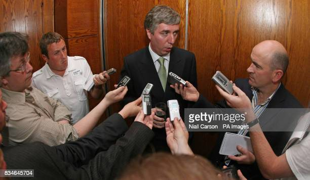 FAI Chief executive John Delaney answers questions during a press briefing ahead of Mayoral Reception and opening of new stand at Regional Sports...