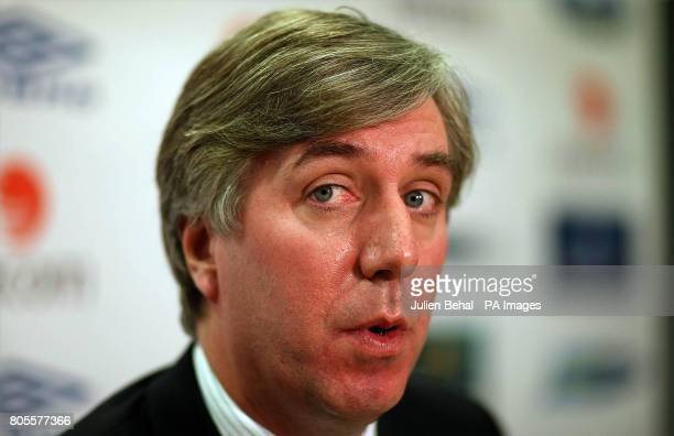 FAI Chief Executive John Delaney holds a press conference at the FAI Headquarters in Abbottstown Dublin