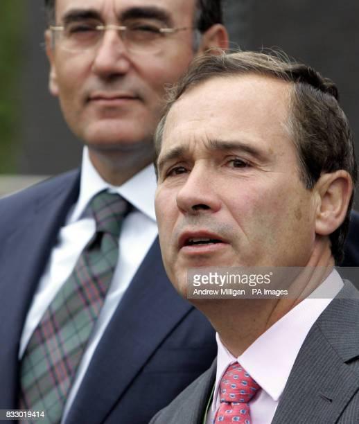 Chief Executive of Scottish Power Jose Luis Del Valle and Chief Executive and Chairman of Iberdrola Ignacio Galan at Longannet Power Station Scottish...