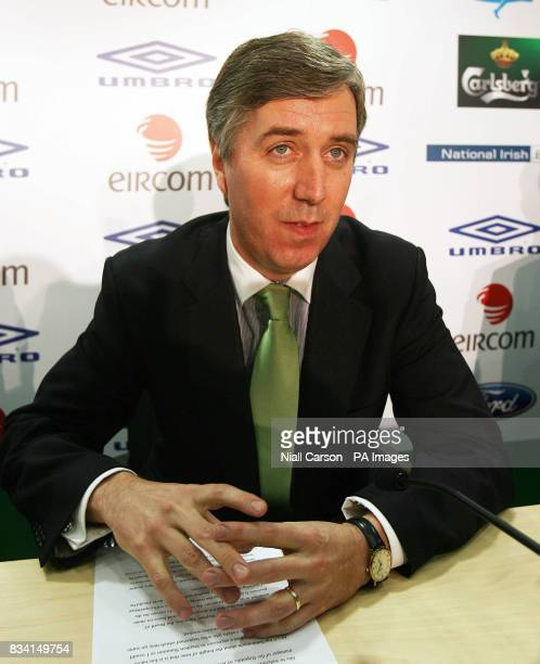 Chief Executive of the FAI John Delaney during a press conference at The National Sports Campus Abbotstown Dublin Ireland