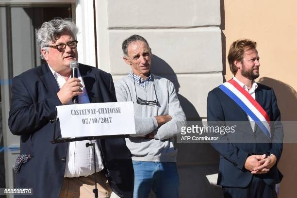 Chief executive of the French company Lafitte Foie Gras and President Industrial Federation of Preserved Food Fabien Chevalier speaks during a...