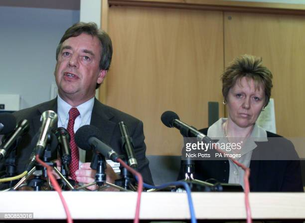 Chief Executive of Wordsley Hospital Paul Farenden and Head of Midwifery Yvonne O'Conner during a press conference at Wordsley Hospital Stourbridge...