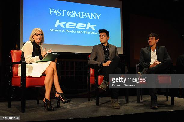 Chief Executive Officer and Board Director of Keek Alex Cameron James Yammouni and Beau Peter Brooks of 'Janoskian' speak at Fast Company and Keek...