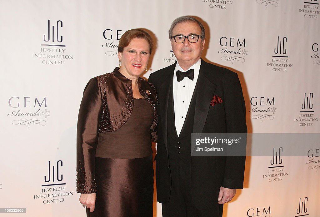 Chief executive officer and president of Borsheim Jewelry Company Susan Jacques and Matthew A. Runci attend the 11th Annual GEM Awards Gala at Cipriani 42nd Street on January 11, 2013 in New York City.