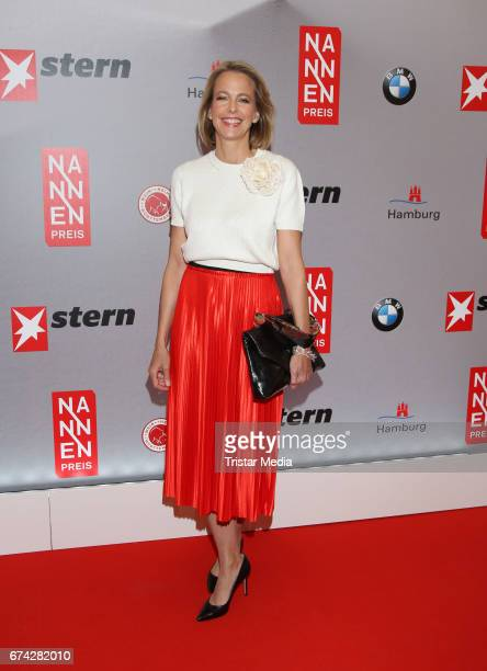 Chief Executive Officer Gruner Jahr Julia Jaeckel during the Henri Nannen Award red carpet arrivals on April 27 2017 in Hamburg Germany