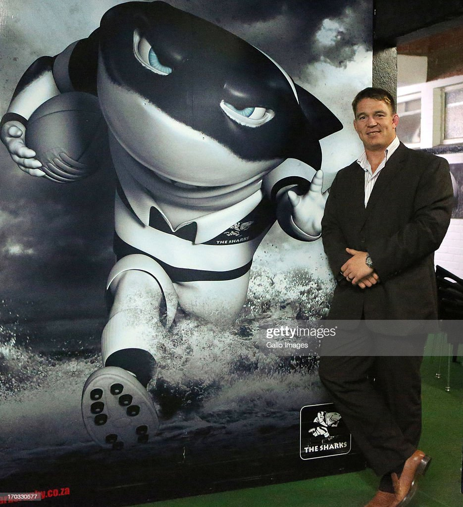 Chief executive officer John Smit during The Sharks announcement of their new CEO at Growthpoint Kings Park on June 11 2013 in Durban South Africa