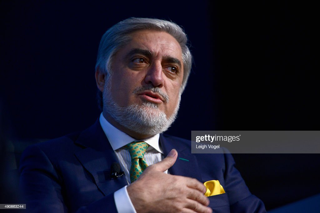 Chief Executive Officer of Afghanistan, <a gi-track='captionPersonalityLinkClicked' href=/galleries/search?phrase=Abdullah+Abdullah&family=editorial&specificpeople=695346 ng-click='$event.stopPropagation()'>Abdullah Abdullah</a> speaks during the 2015 Concordia Summit at Grand Hyatt New York on October 1, 2015 in New York City.