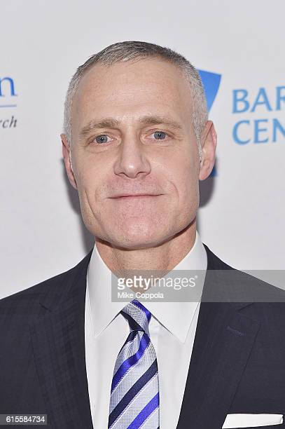 Chief Executive Officer of Brooklyn Sports Entertainment Brett Yormark attends the 2016 TJ Martell Foundation Gala at Gustavino's on October 18 2016...