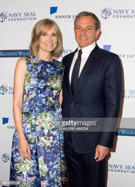 Chief Executive Officer of Disney Robert A Iger and wife Willow Bay attend the 2017 Los Angeles Evening of Tribute Benefiting the Navy SEAL...