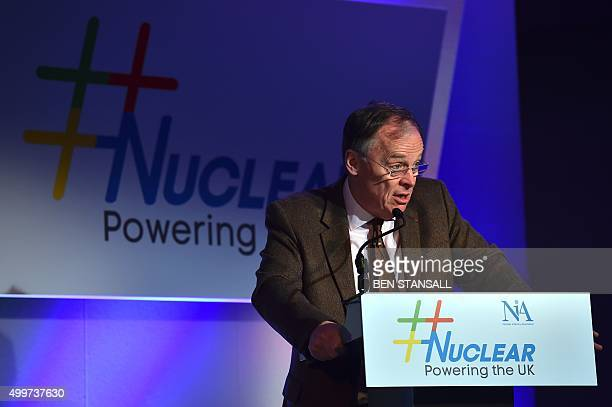 Chief Executive Officer of EDF Energy Vincent de Rivaz speaks during the Nuclear Power the UK energy conference organised by the Nuclear Industry...