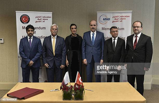 Chief Executive Officer of Education Above All Foundation Marcio Barbosa Qatar Emir's mother Sheikha Moza Bint Nasser Turkish Deputy Prime Minister...