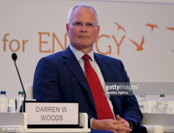 Chief Executive Officer of ExxonMobil Darren Woods attends the 22nd World Petroleum Congress the largest meeting of oil and gas industry at Istanbul...