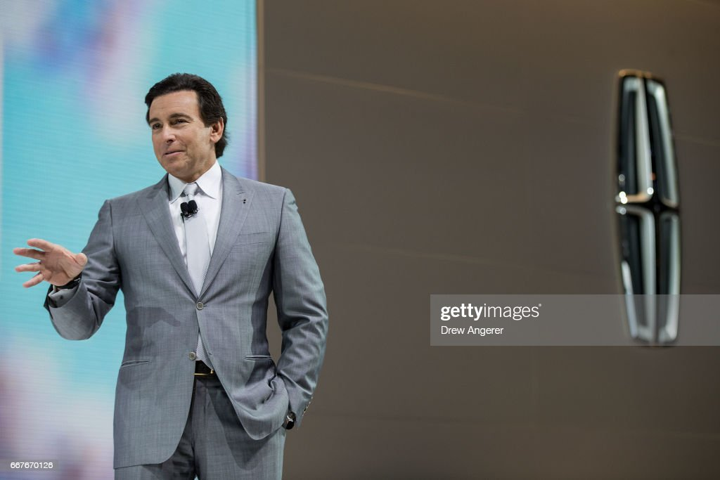 Chief Executive Officer of Ford Mark Fields speaks before before the unveiling of the 2018 Lincoln Navigator at the New York International Auto Show on April 12, 2017 at the Jacob K. Javits Convention Center in New York City. The New York International Auto Show will open to the public starting Friday April 14 and run through April 23.
