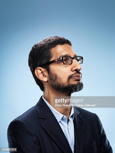 Chief Executive Officer of Google Sundar Pichai is photographed for Forbes Magazine on May 27 2016 in Mountain View California PUBLISHED IMAGE CREDIT...