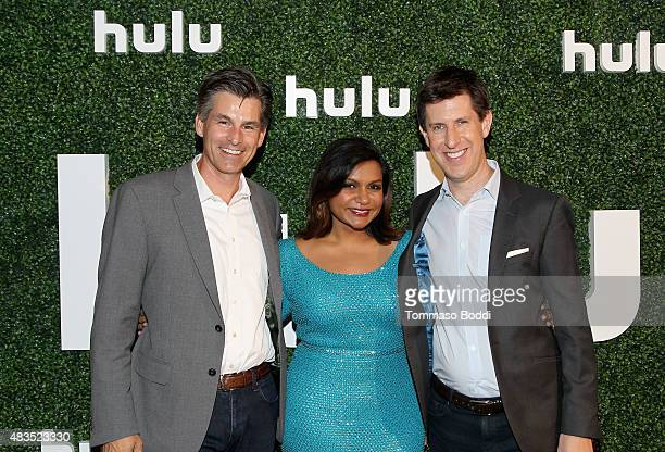 Chief Executive Officer of Hulu Mike Hopkins actress and Executive Producer Mindy Kaling and Craig Erwich SVP and Head of Content at Hulu attend the...