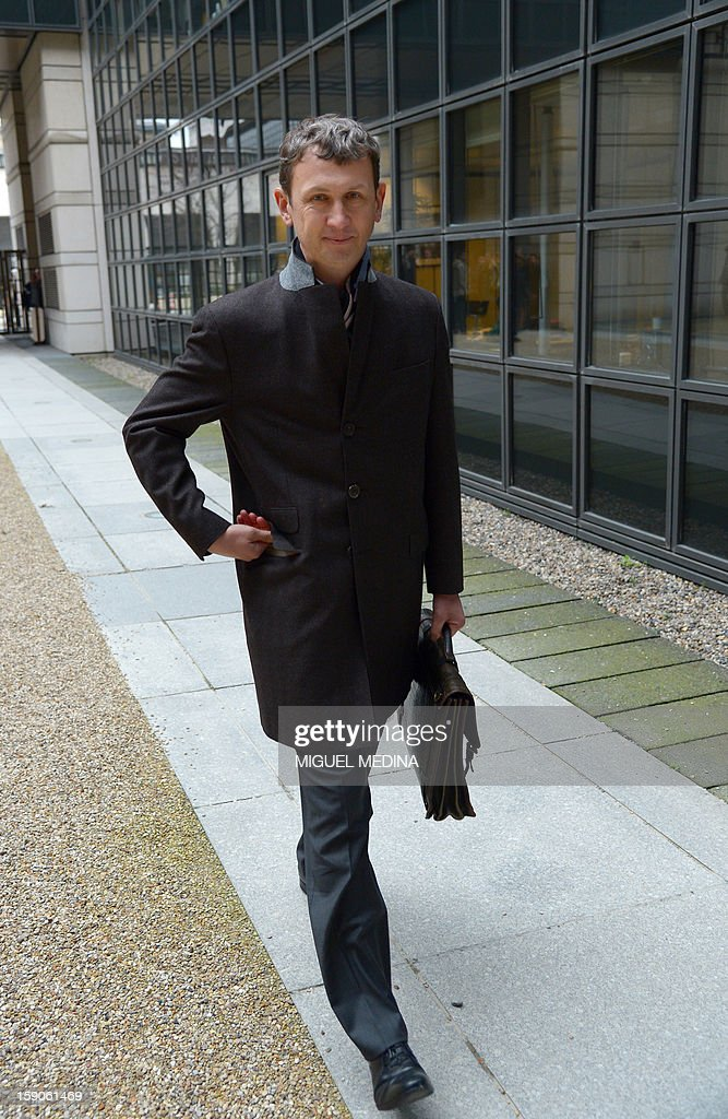 Chief Executive Officer of Iliad Maxime Lombardini arrives for a meeting with French Junior minister for Digital economy, on January 7, 2013 at the ministry in Paris, over a decision by Free telecoms, subsidiary of Illiad to block online advertisements. AFP PHOTO MIGUEL MEDINA