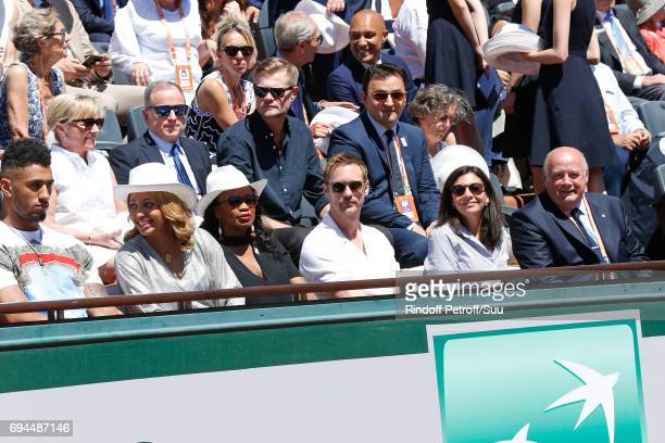 Chief Executive Officer of Louis Vuitton Michael Burke and his wife Brigitte Burke Ambassadors of Olympic Games of Paris 2024 and Olympic Champions...