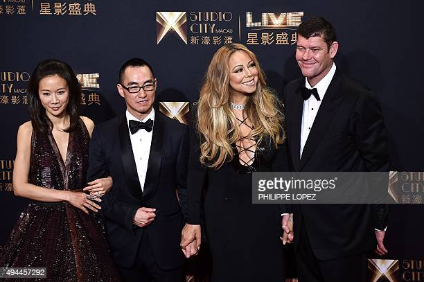 Chief executive officer of Melco Crown Entertainment Lawrence Ho and his wife US singer Mariah Carey and cochairman of Melco Crown Entertainment...