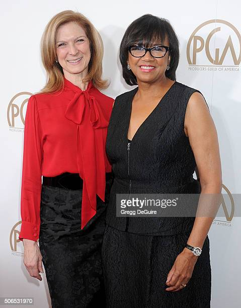 Chief Executive Officer of the Academy of Motion Picture Arts and Sciences Dawn Hudson and Academy President Cheryl Boone Isaacs arrive at the 27th...
