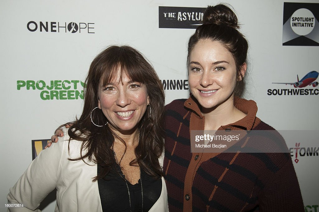 Chief Executive Officer of The Creative Coalition Robin Bronk and actress Shailene Woodley attend 2013 Creative Coalition Spotlight Initiative Gala Awards Dinner - 2013 Sundance Film Festival at The Sky Lodge on January 19, 2013 in Park City, Utah.