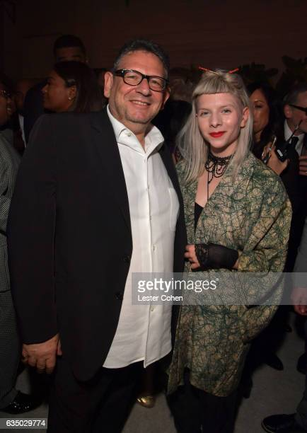 Chief Executive Officer of Universal Music Group Lucian Grainge and singer/songwriter Aurora attend Universal Music Group 2017 Grammy after party...