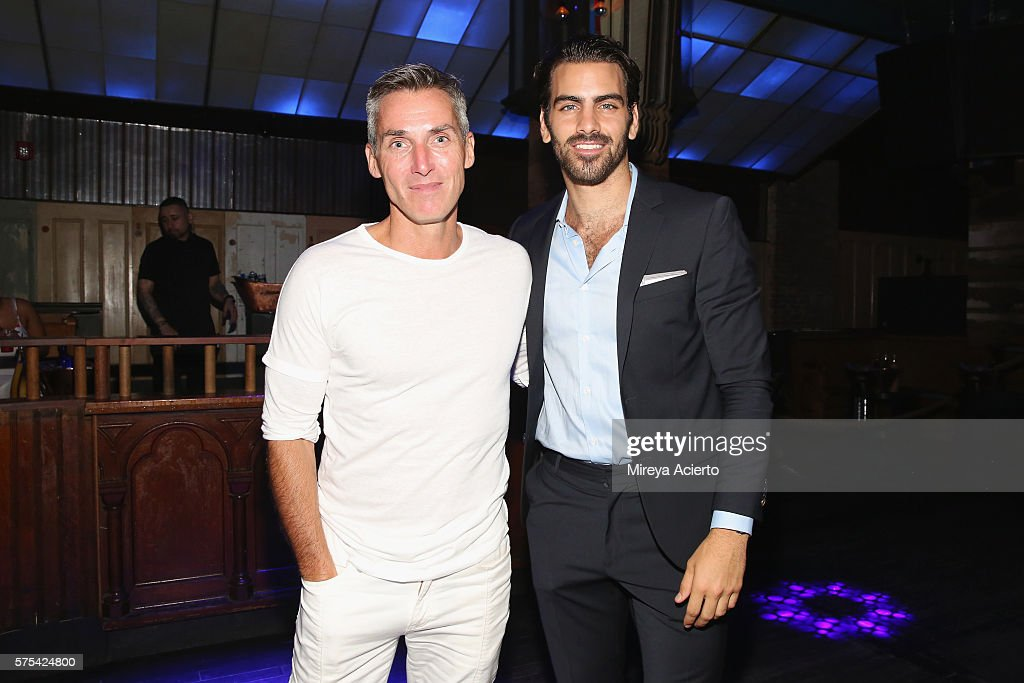 chief executive officer of Wilhelmina International Inc Bill Wackermann and model Nyle DiMarco attend an after party hosted by Wilhelmina and The...
