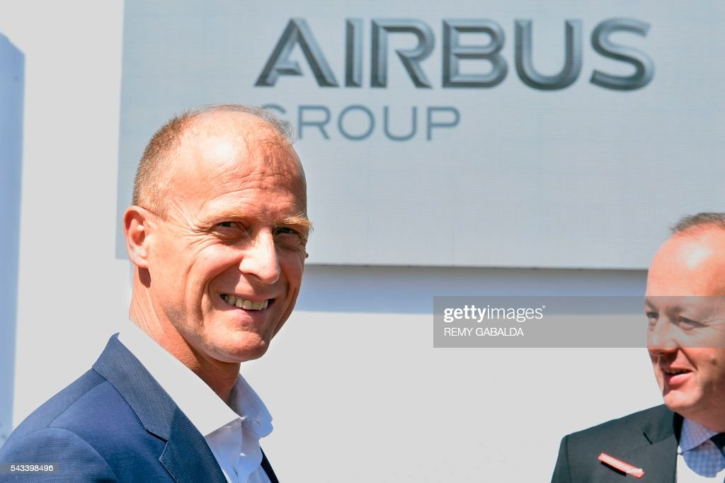 Chief Executive Officer Tom Enders poses as he arrives for the inauguration ceremony of the new headquarters of Airbus Group on June 28, 2016 in Blagnac, on the outskirts of Toulouse. / AFP / Rémy GABALDA