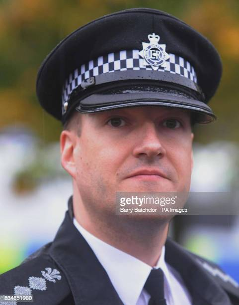 Chief Inspector Hugh Nicholas during a press conference near Driverline 247 on New Road at New Inn Pontypool South Wales