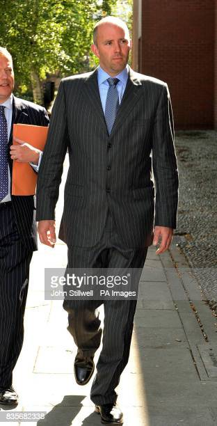 Chief Inspector Jonathan Baldwin arrives at Ipswich Magistrates Court in Suffolk where he accused of fraud after allegedly making false mileage...