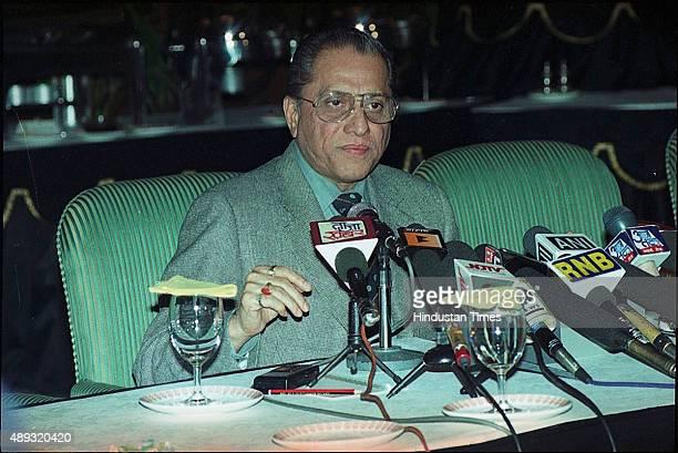 BCCI Chief Jagmohan Dalmiya during a press conference on January 26 2003 in Kolkata India BCCI President Jagmohan Dalmiya has died of a heart attack...