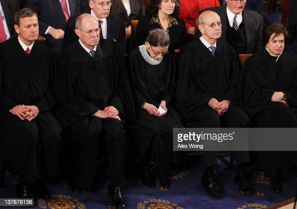 Chief Justice John G Roberts Jr Associate Justice Anthony M Kennedy Associate Justice Ruth Bader Ginsburg Supreme Court Justice Stephen Breyer and...