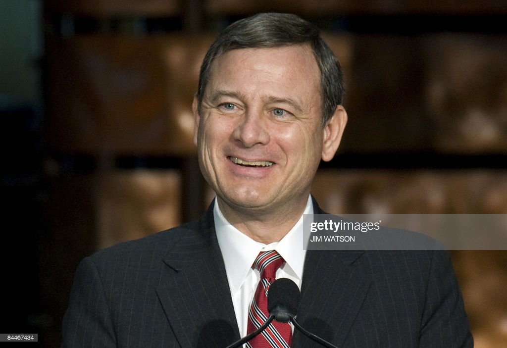 Chief Justice of the United States John Roberts participates in the installation ceremony of the 12th Secretary of the Smithsonian Institute Wayne...
