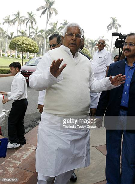 RJD chief Lalu Prasad Yadav at the opening day of Parliament budget session on February 22 2010