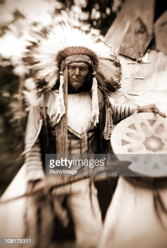 Chief Long Horn (Sepia)