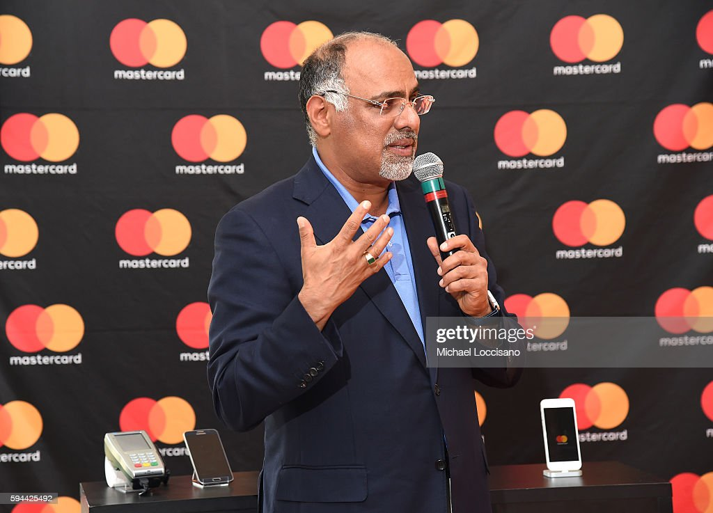 Chief Marketing Communications Officer Raja Rajamannar speaks at The Barclays where Mastercard showcased Masterpass its omnichannel global digital...