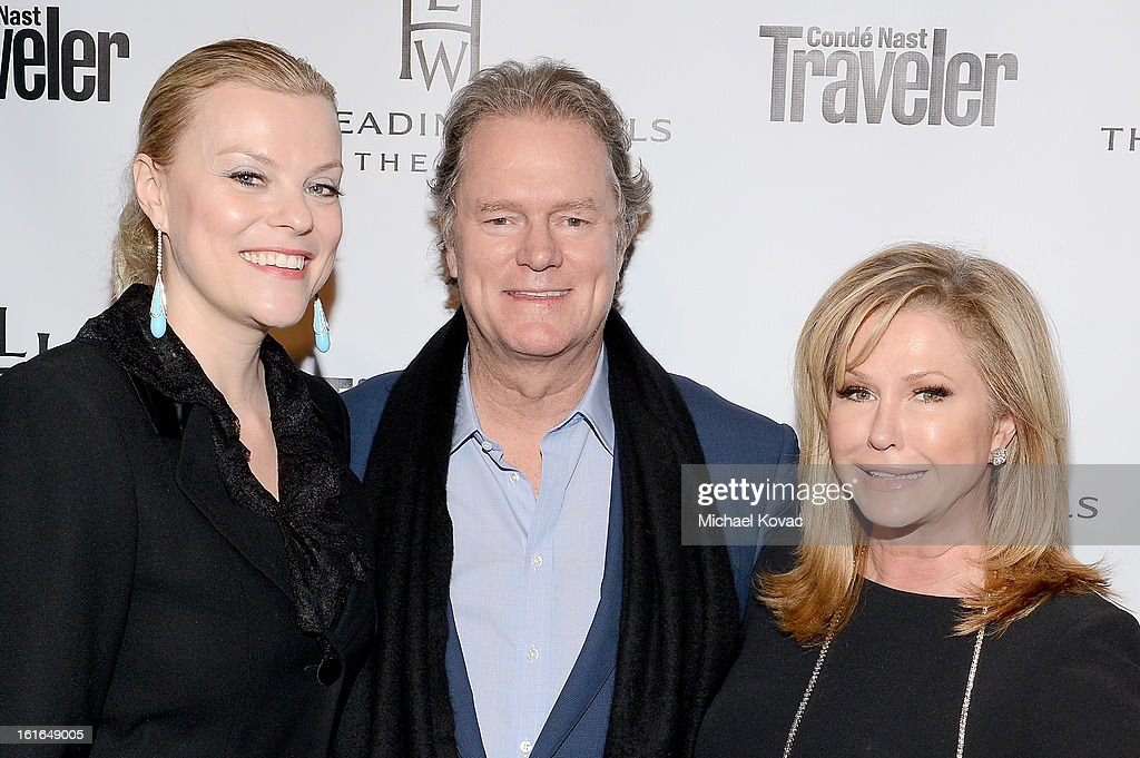Chief Marketing Officer at The Leading Hotels of the World, Claudia Kozma Kaplan, Rick Hilton and Kathy Hilton join Conde Nast Traveler as they celebrate The Leading Hotels Of The World 85th Anniversary at Mr. C Beverly Hills on February 13, 2013 in Beverly Hills, California.