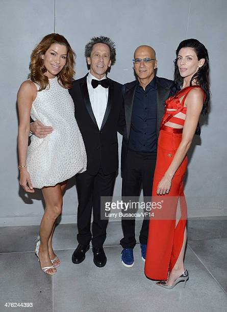 Chief Marketing Officer for sbe Veronica Smiley producer Brian Grazer Chairman of Interscope Geffen AM Jimmy Iovine and model Liberty Ross attend the...