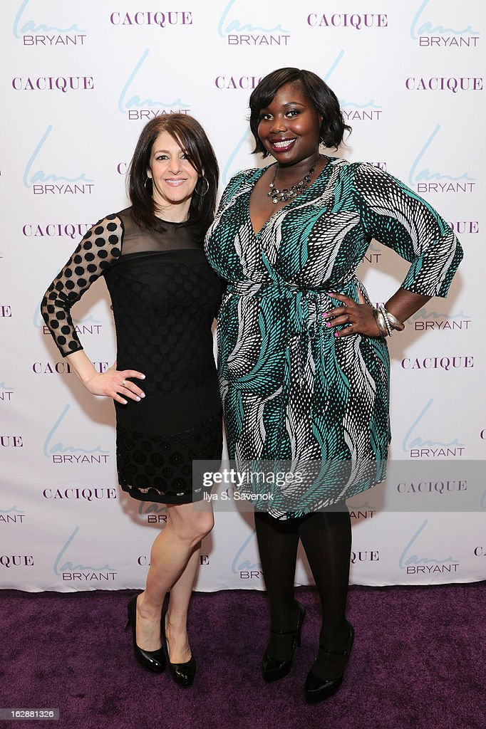 SVP & Chief Marketing Officer Liz Crystal and blogger Alissa Wilson attend Carnie Wilson & Jay Manuel Celebrate Lane Bryant's NYC Flagship on February 28, 2013 in New York City.