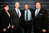 Chief marketing officer of Movado Group Inc Mary Leach CEO and Chairman of Movado Group Inc Ephraim Grinberg Wynton Marsalis and President Movado and...