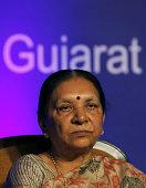 Chief Minister of Gujarat Anandiben Patel during Vibrant Gujarat curtain raiser at Taj Palace in New Delhi India Prime Minister Narendra Modi will...