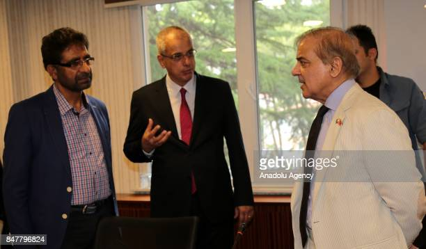 Chief Minister of Punjab Shehbaz Sharif is informed by Istanbul Provincial Health Director Kemal Memisoglu during his visit at Fatih Sultan Mehmet...