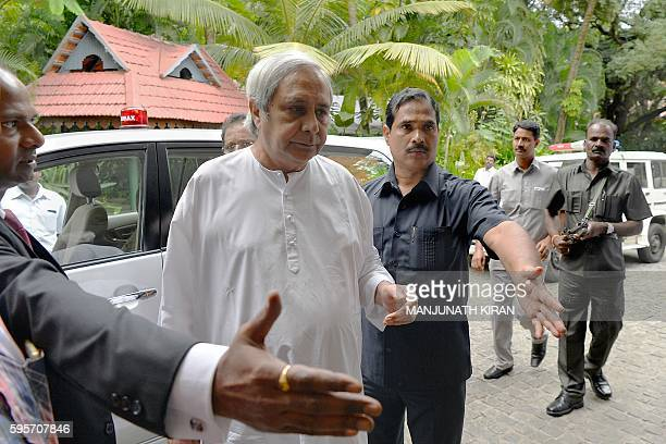 Chief minister of the eastern Indian state of Odisha Naveen Patnaik arrives at the Odisha Investors Meet held in Bangalore on August 26 2016 / AFP /...
