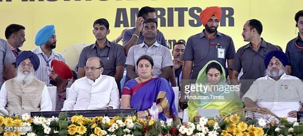 Chief Minister Parkash Singh Badal Union Finance Minister Arun Jaitley Human Resource Development Minister Smriti Irani Punjab Union Cabinet Minister...