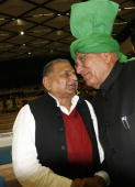 SP chief Mulayam Singh Yadav with OP Chautala during the diamond jubilee celebrations of the Election Commission in New Delhi on Monday January 25...