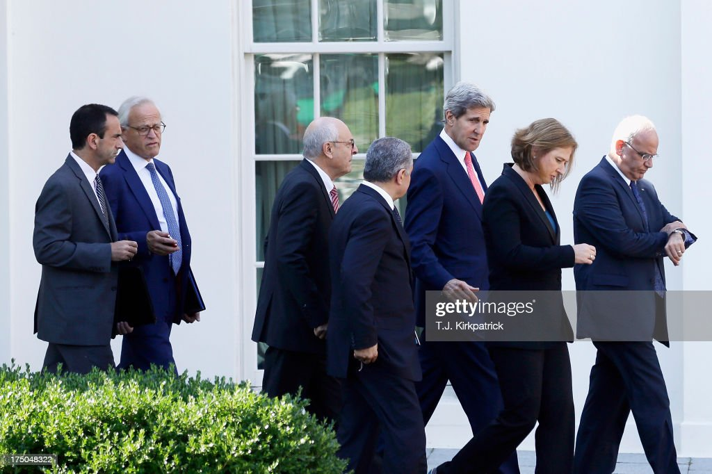 Secretary of State John Kerry Meets With Israeli And Palestinian Negotiators At White House
