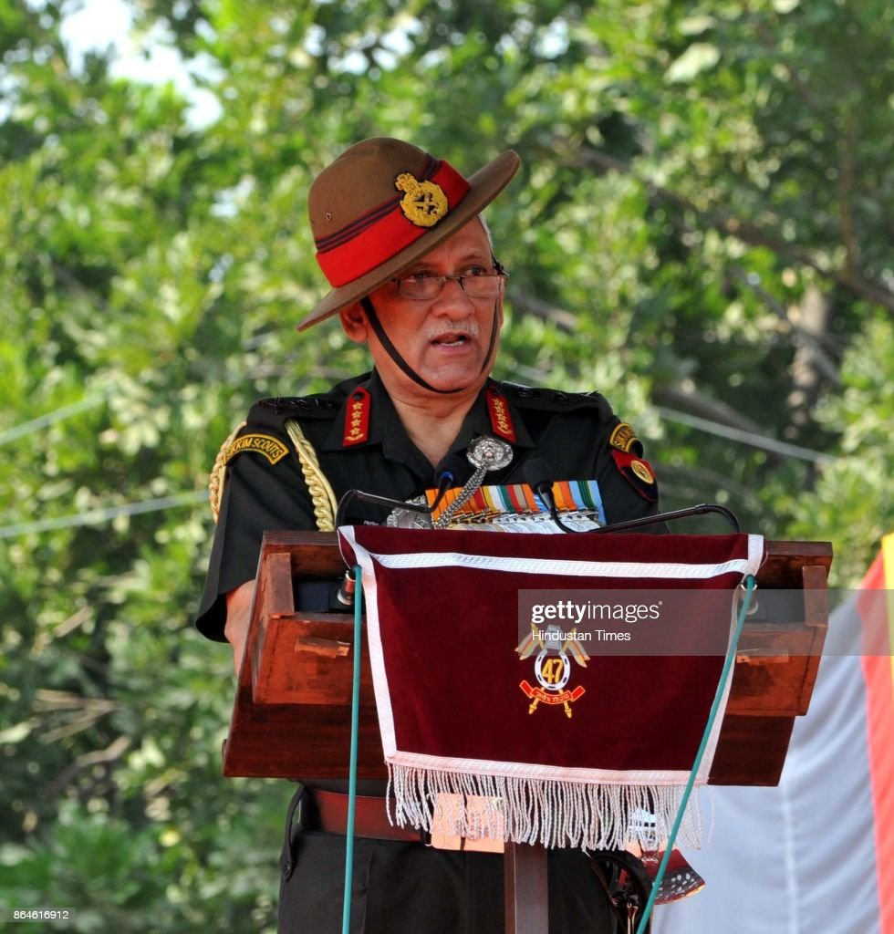 Chief Of Army Staff General Bipin Rawat Presents Presidents Standard To 47 Armoured Regiment In Jammu