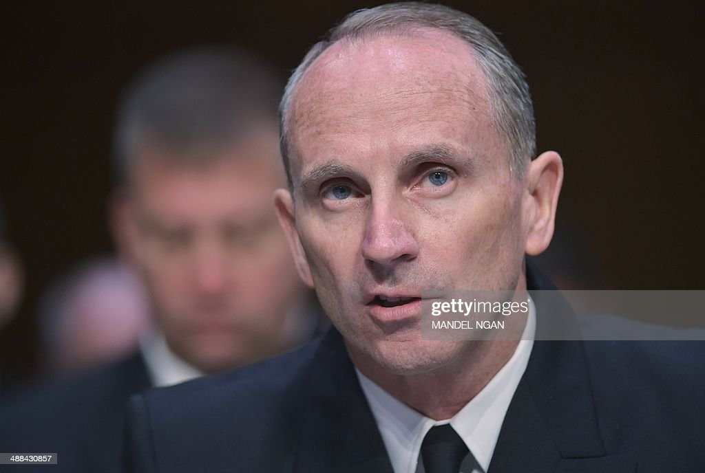 Chief of Naval Operations Adm. Jonathan Greenert testifies before the Senate Armed Services Committee on Defense Department proposals relating to military compensation in the Hart Senate Office Building on Capitol Hill on May 6, 2014 in Washington, DC. AFP PHOTO/Mandel NGAN