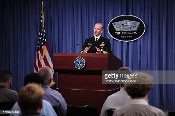 Chief of Naval Operations CNO Admiral Jonathan Greenert holds a press conference to give the public an update on the status of Navy Washington 2012...