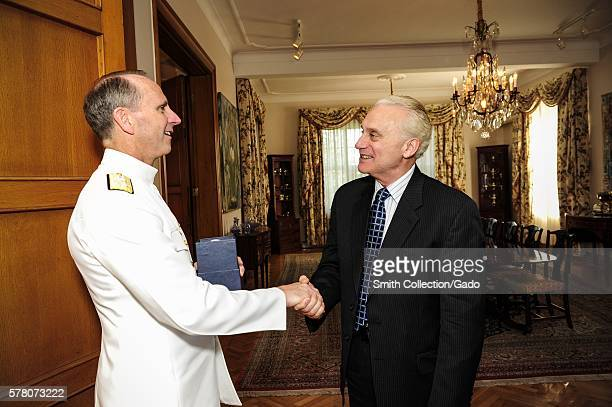 Chief of Naval Operations CNO Admiral Jonathan Greenert left meets with the US Ankara Turkey 2012 Image courtesy Mass Communication Specialist 1st...